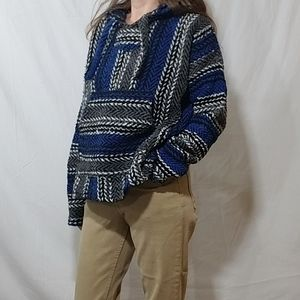 Tops - Cotton blue and black striped hoodie